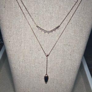 Stella & Dot Rose Gold Lariat Necklace
